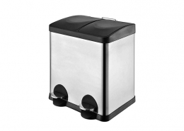 Dual Compartment Step Trash Can Recycler