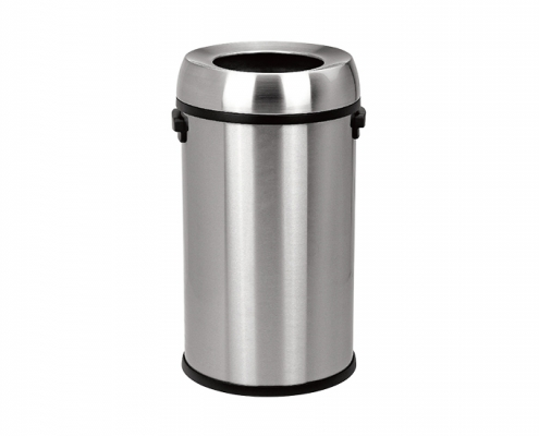 Industries Stainless Steel Open Top Trash Can