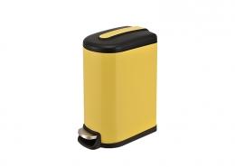 Semi Round Waste Bin Yellow