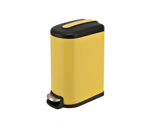 Semi Round Waste Bin Yellow