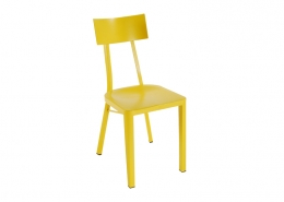Yellow Metal Indoor Outdoor Chair