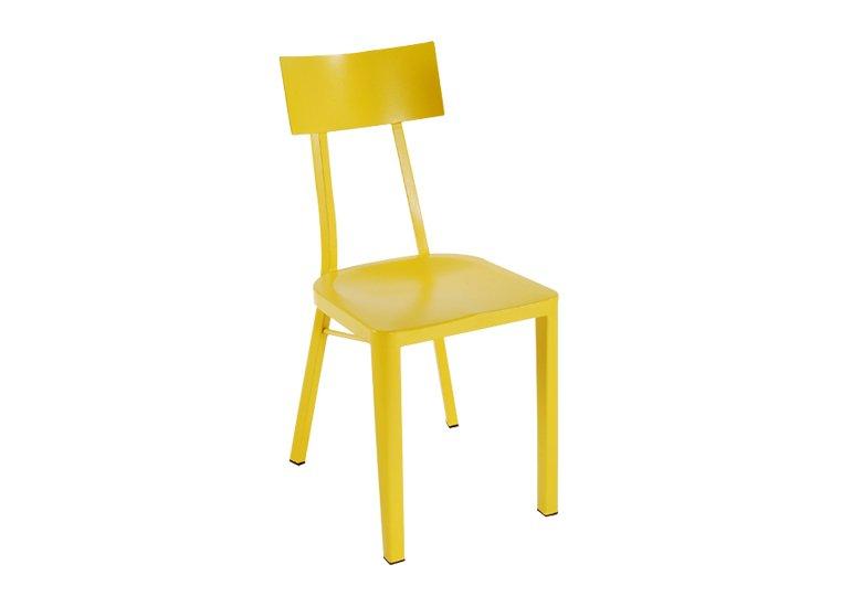Yellow Metal Indoor Outdoor Chair