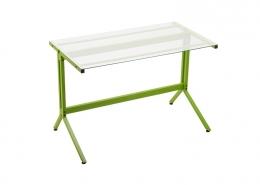 Glass Top Computer Desk Green