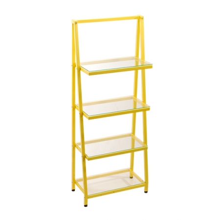Ladder Bookshelf Glass shelf