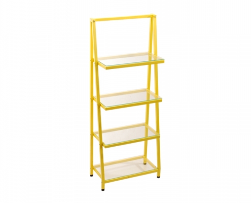 Ladder Bookshelf Glass shelf