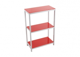 Metal Storage Display Shelf Bookcase Leveling Feet