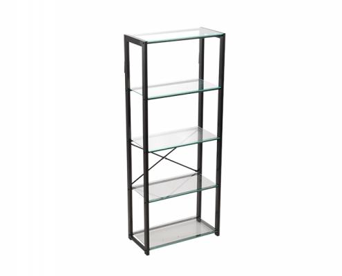 Metal Storage Rack Glass Shelf