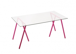 PC Laptop Tempered Glass Table Workstation