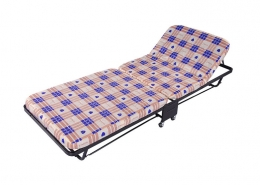 Adjustable folding rollaway bed metal platform frame on wheels