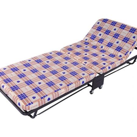 Adjustable folding rollaway bed metal platform frame on wheels