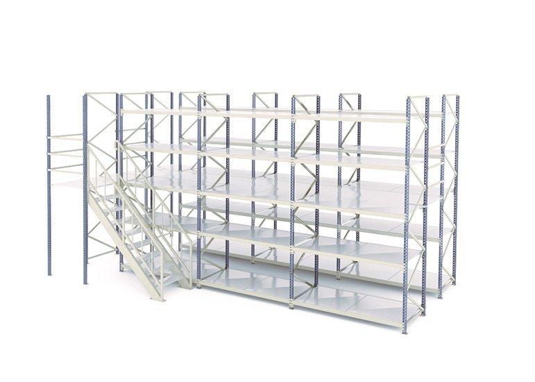 Adjustable steel box beam pallet rack for warehouse storage