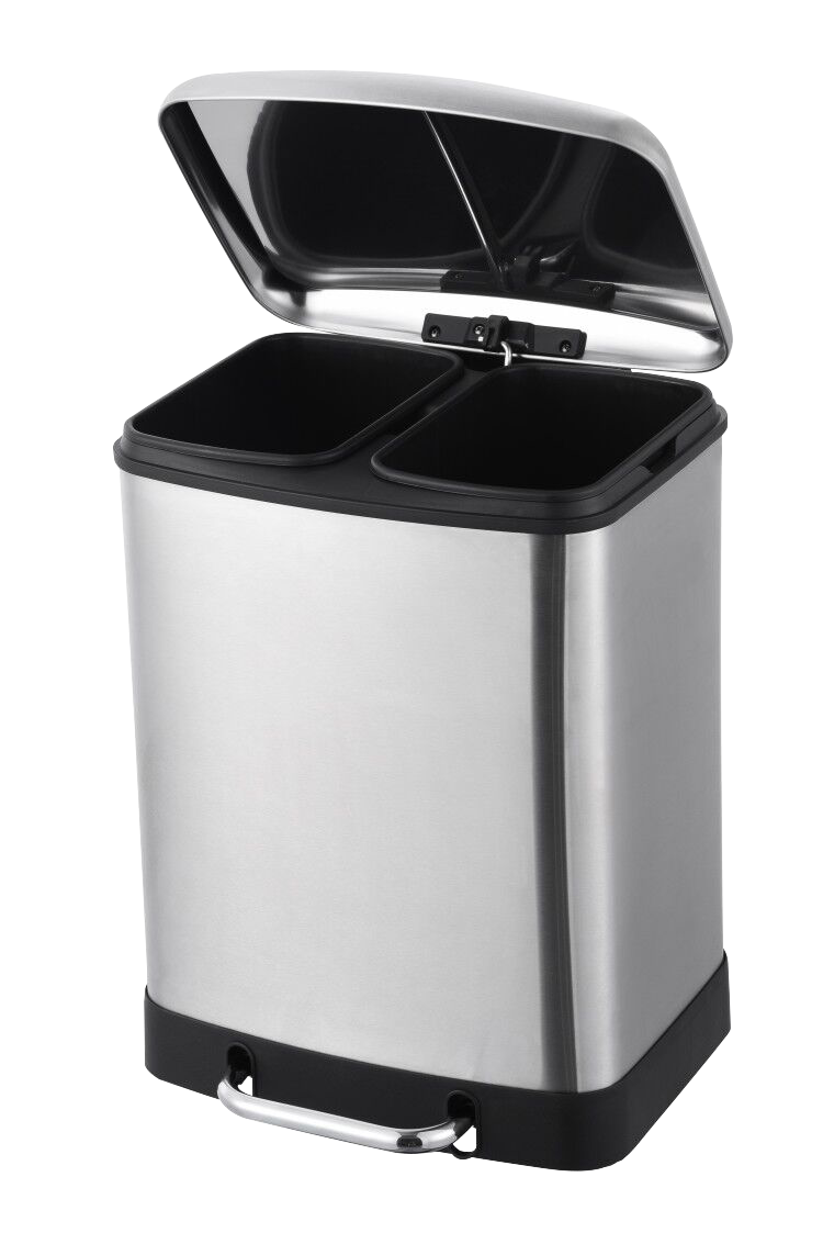 2-compartment recycling bin