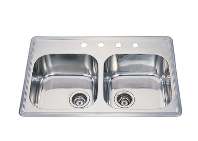 Double Bowl 4-Hole Kitchen Sink