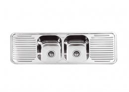 Double Bowl Kitchen Sink 2 Drainer