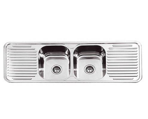 Double Bowl Kitchen Sink 2 Drainer