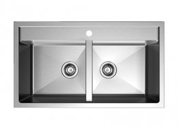 50/50 Double Bowl Stainless Steel Kitchen Sink