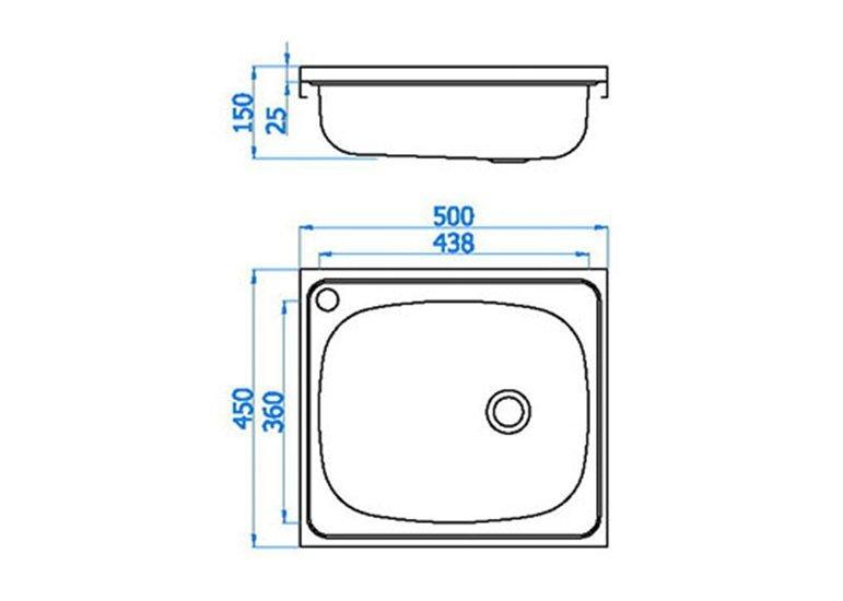 Single Bowl Sink Basin