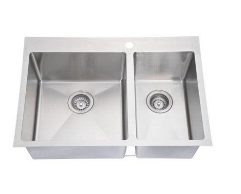 Double Bowl Handmade Kitchen Sink SI-HD01