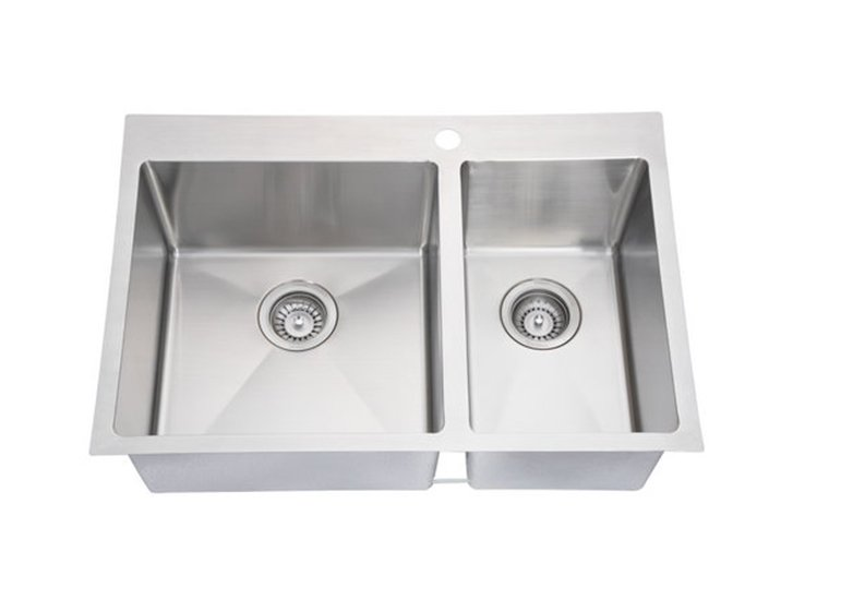 Double Bowl Handmade Kitchen Sink SI-HD01