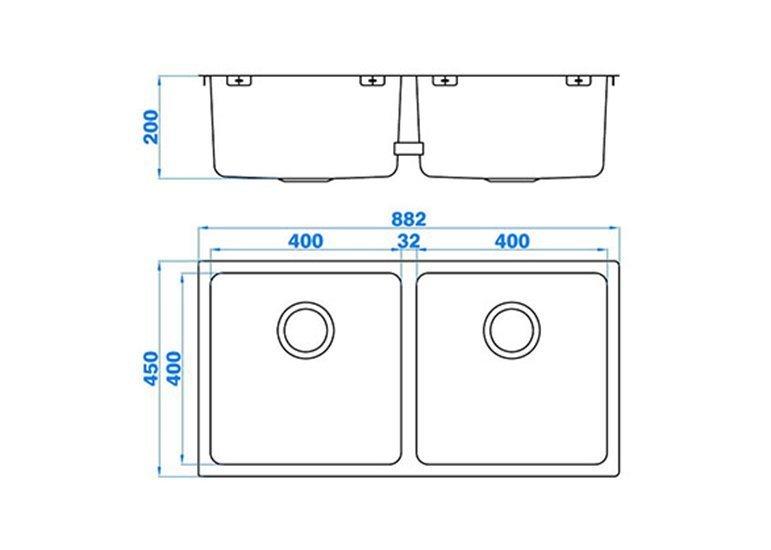 Double Bowl Utility Sink