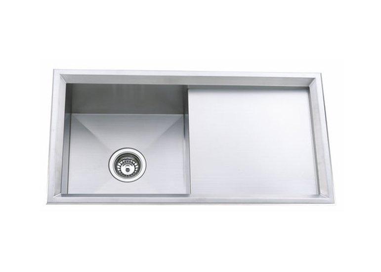 Ledge Workstation Handmade Kitchen Sink Single Bowl